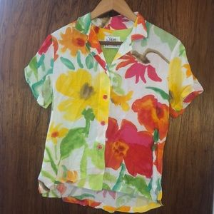 Jams World yellow/orange shirt Aloha shirt short